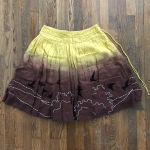 Lithe Dyed Embroidered Skirt from Anthropologie